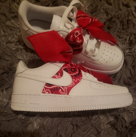 Nike Shoes   Air Force S With Red